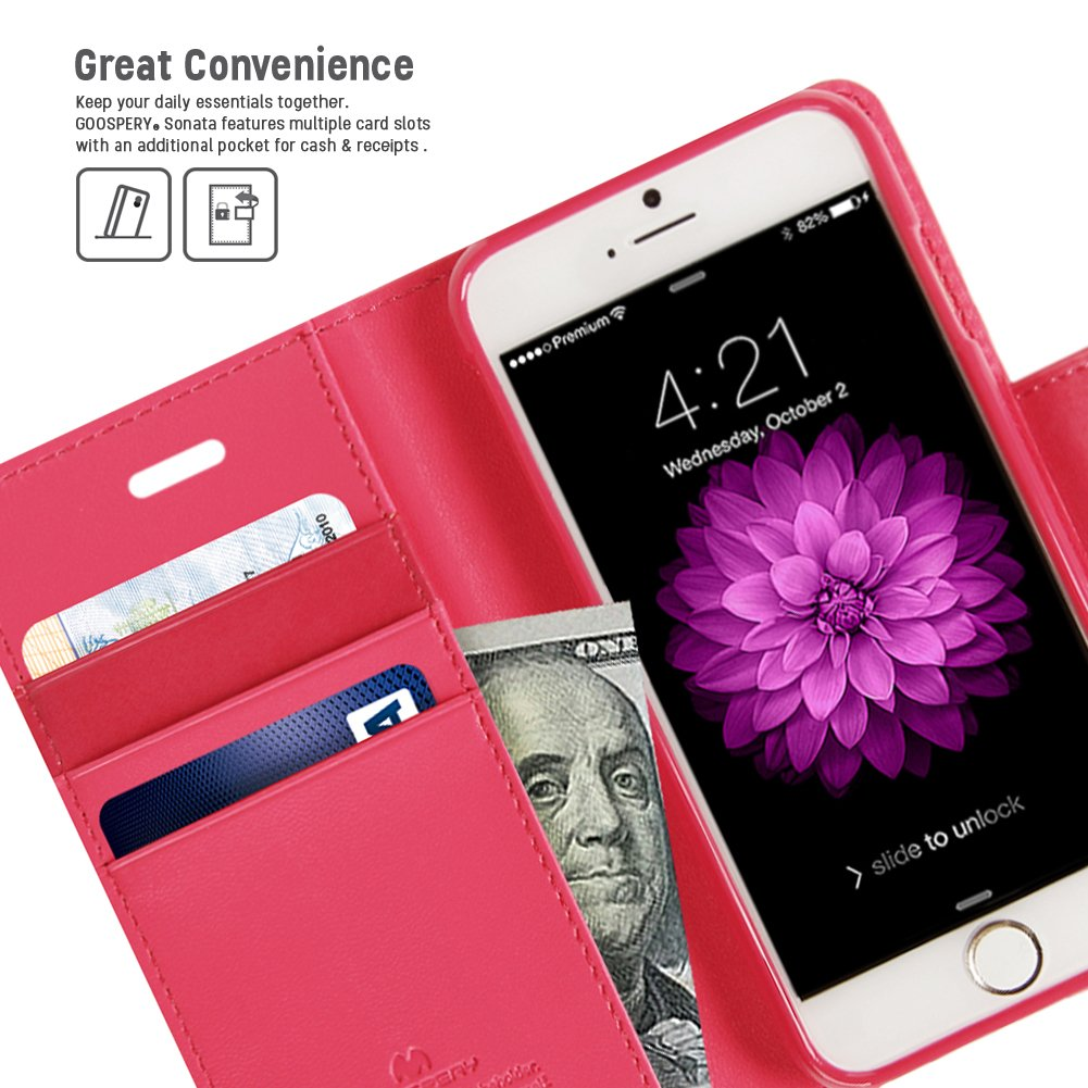 Iphone 6s 6 Case Drop Protection Goospery Sonata 8 Plus Blue Moon Flip Hotpink Diary Wallet Type Synthetic Leather Id Card Cash Slot W Stand Cover For