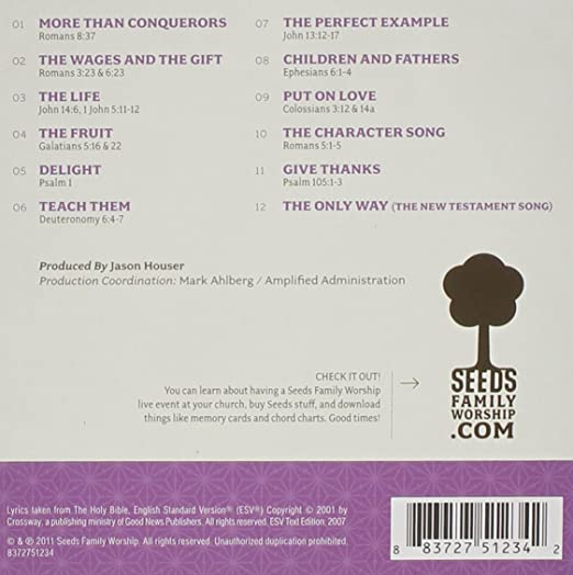 Seeds Family Worship Seeds Family Worship Seeds Of Character Vol