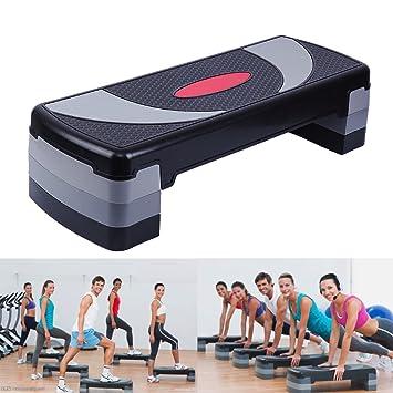 Paneltech 80cm/110cm 3 en 1 Steps Fitness Step de aeróbic step ...