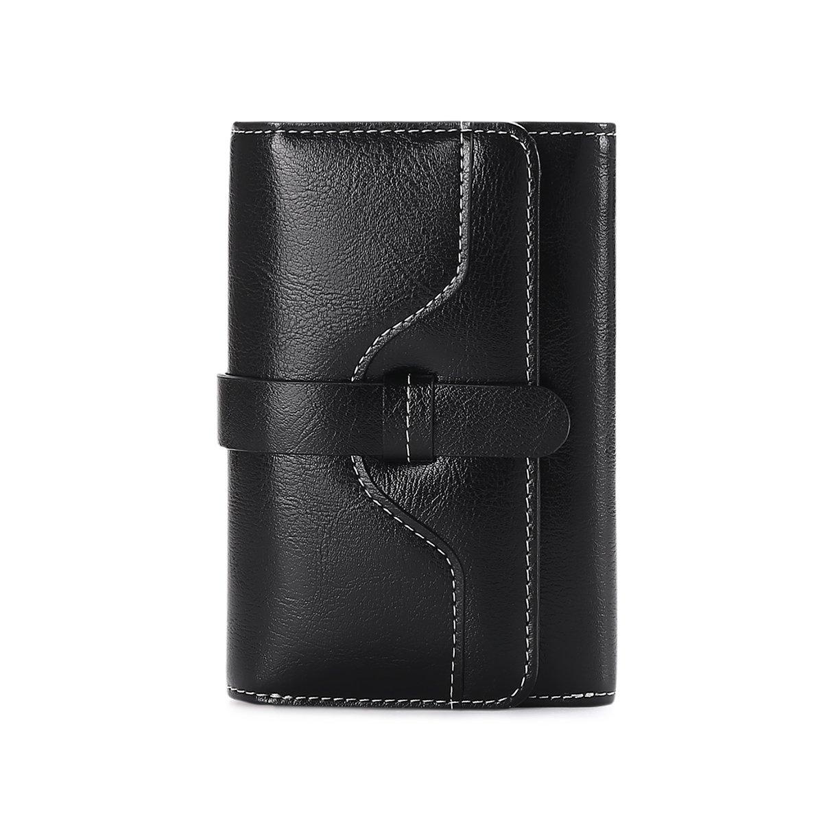 Vintage Leather Women short Wallet Coin Pocket Phone Purse Female Card Holder by Sendefn (Image #2)