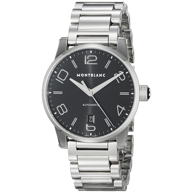Montblanc Timewalker自動ブラックダイヤルステンレススチールメンズ腕時計105962 B009TBLYPG
