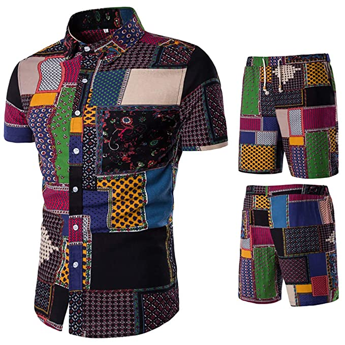 Amazon.com: HaoDong - Conjunto de pantalones de verano para ...