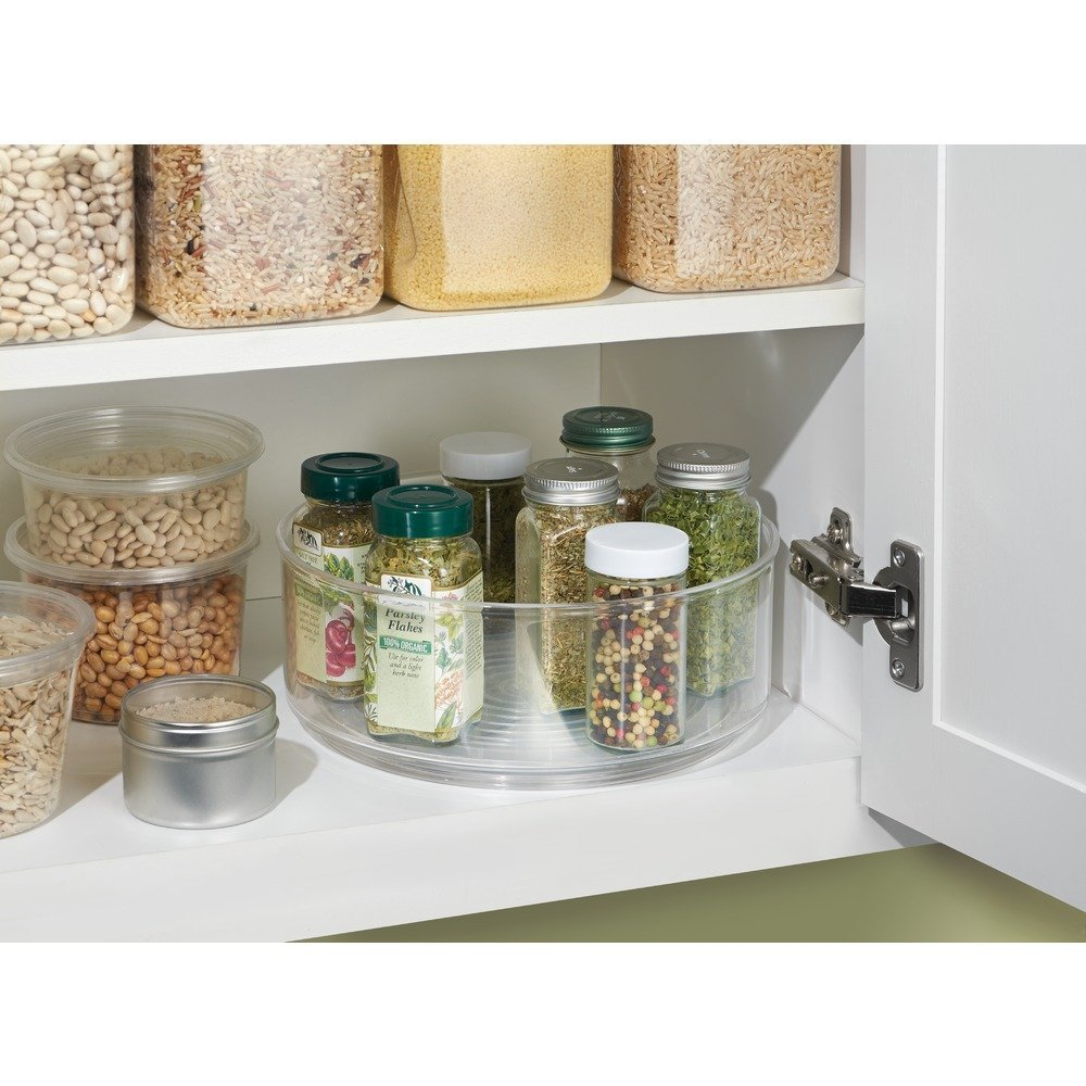 InterDesign Lazy Susan Turntable Spice Organizer Bin For Kitchen Pantry, Cabinet, Countertops, Clear by InterDesign (Image #4)