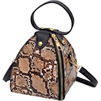 Yoyorule Fashion Women' s Leopard Print Large Capacity PU Leather Shoulder Bag Messenger Bag Crossbody Phone Bag Handbag