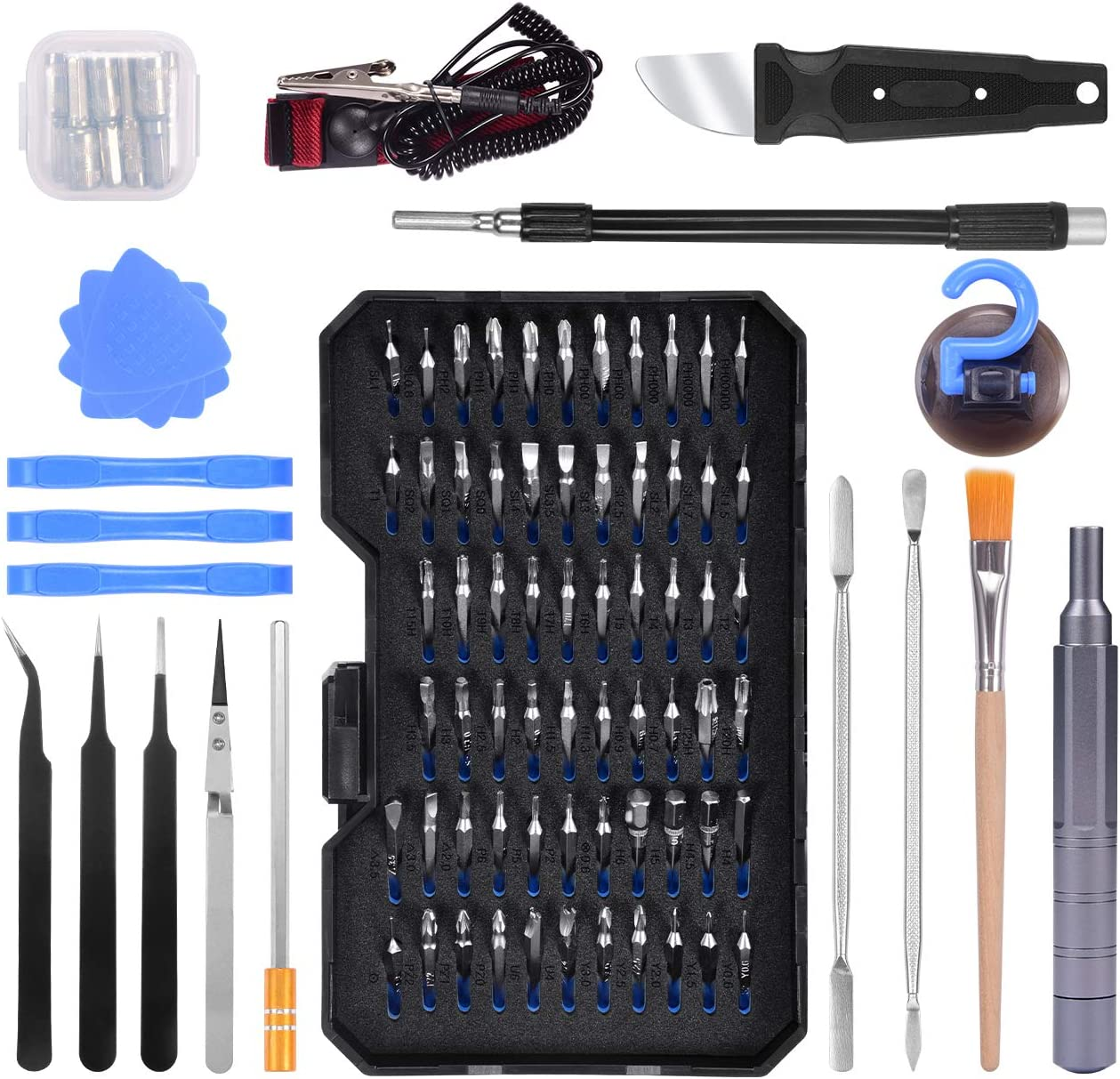 Lifechaser 94 in 1 Precision Screwdriver Bit Set Magnetic Electronics Repair Tool, for iPhone, iPad, Android, Tablet, MacBook, PC, Laptop, Apple Watch, Switch, Xbox, Playstation, Watch and More