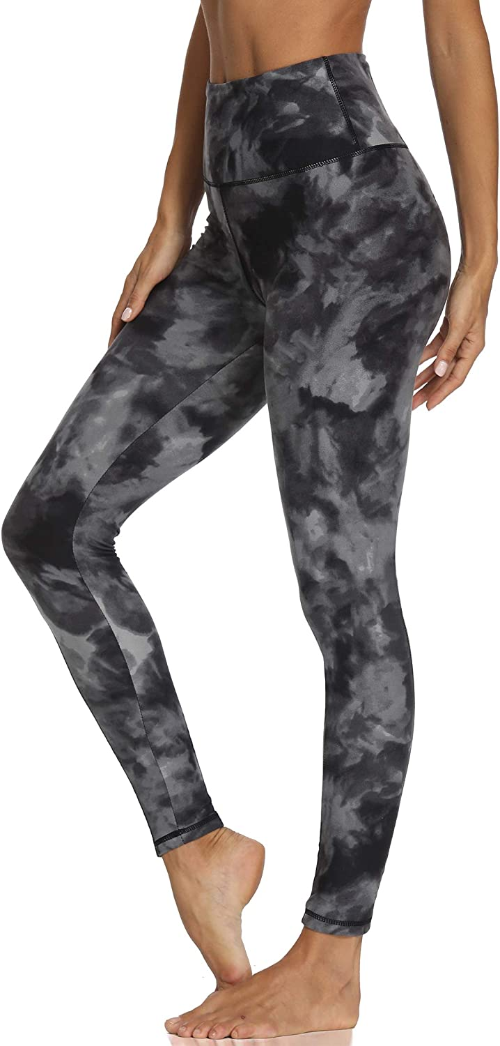 CAMPSNAIL Leggings for Women - High Waisted Soft Slim Tummy Control Printed Pants for Workout Yoga Running