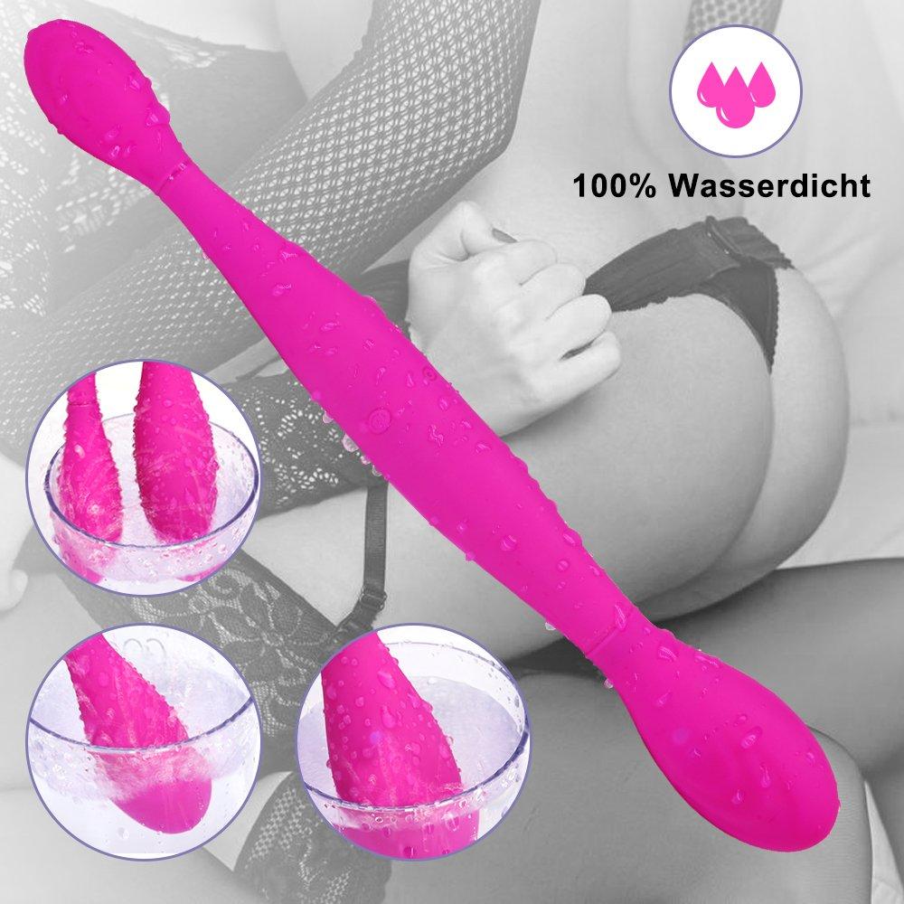 Paarvibrator Partner Vibratoren für Sie Klitoris und G-punkt Stimulator, Doppeldildos Dildo Anal Vibrator Klitorisstimulator mit 7 Vibrationsmodi für Frauen Lesben, Paar, Wasserdicht, Aufladbar