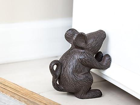 Amazon.com: Cast Iron Mouse Door Stop - Decorative Rustic Door ...