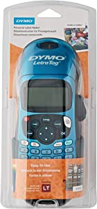 Dymo S0901180 LetraTag LT-100H Plus Label Maker ABC Keyboard - Black/Blue