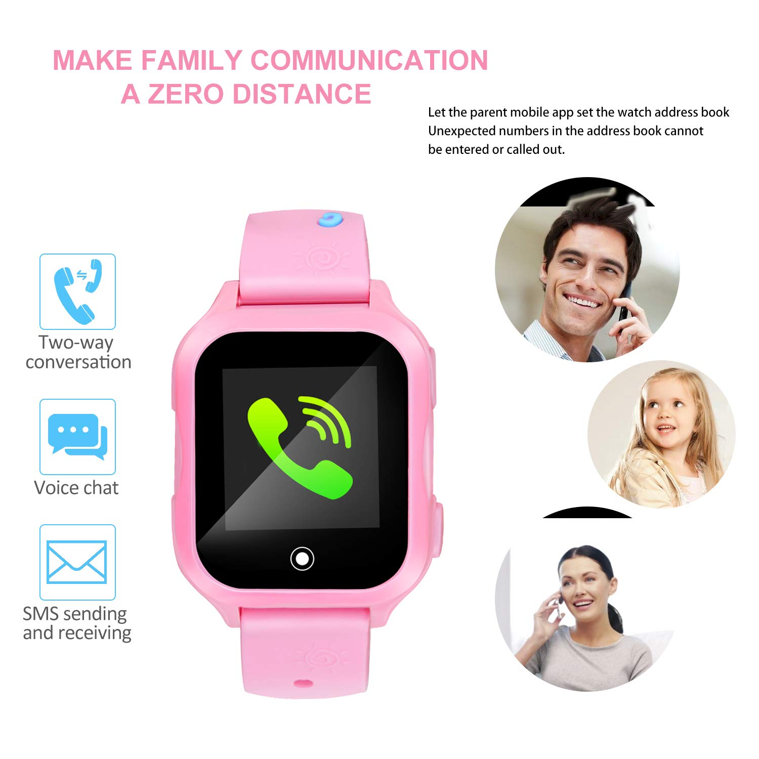 Amazon.com: Kids Phone Watch with GPS Waterproof and App Remote Control,Unlocked Kids Watch Phone with Voice Chat Touch Screen Camera,Compatible with ...