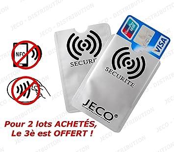 Lot De 2 Protege Carte Anti Rfid Paiement Sans Contact Carte Bleue