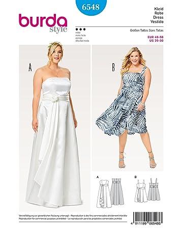 Burda 6548 Schnittmuster Kombination aus Brautkleid und Abendkleid ...