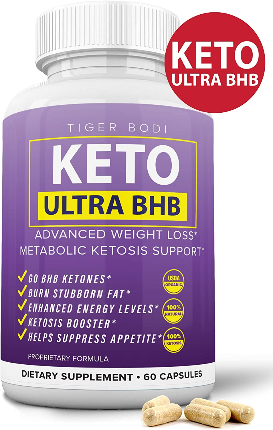 Keto BHB Real Capsules for Weight Loss, Keto 800 BHB Pills for Real Energy, Focus, Metabolism Boost - Premium Advanced Powder Exogenous Ketones for Rapid Ketosis Diet for Men Women
