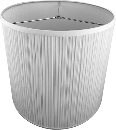FenchelShades.com 14 Top Diameter x 16 Bottom Diameter 14 Slant Height Lampshade USA Made Pleated Mushroom White