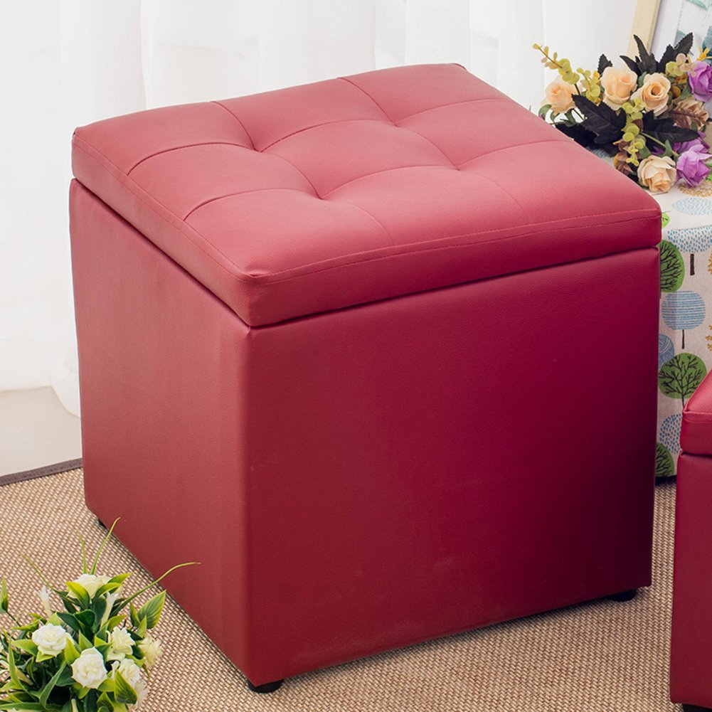 Storage Cube FootRest Stool Coffee Table Puppy Step,Elegant and Soft File Box to Storage Your Books,A4 Papers,Also As Comfortable Small Sofa for Rest-Big