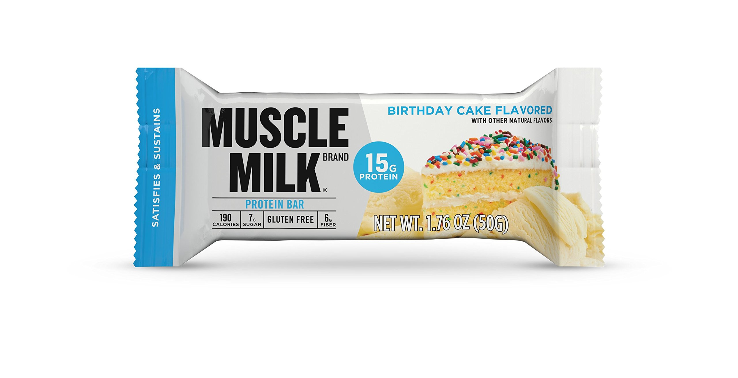 Amazon Muscle Milk Protein Bar Birthday Cake 15g 12 Count Health Personal Care