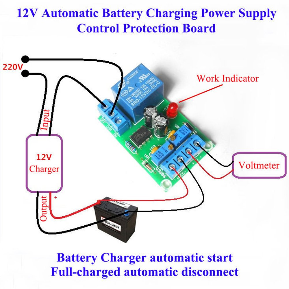 Amazoncom Qianson Automatic V Battery Charging Controller - 12v low voltage protection relay