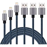 Lightning Cable, 3Pack Premium iPhone Charger 3ft 6ft 10 ft iPhone Charger Cord Compatible with iPhone 11 Pro Max XS XR X 8 7 6S 6 Plus SE 5S 5C 5 iPod iPad Mini Air Pro