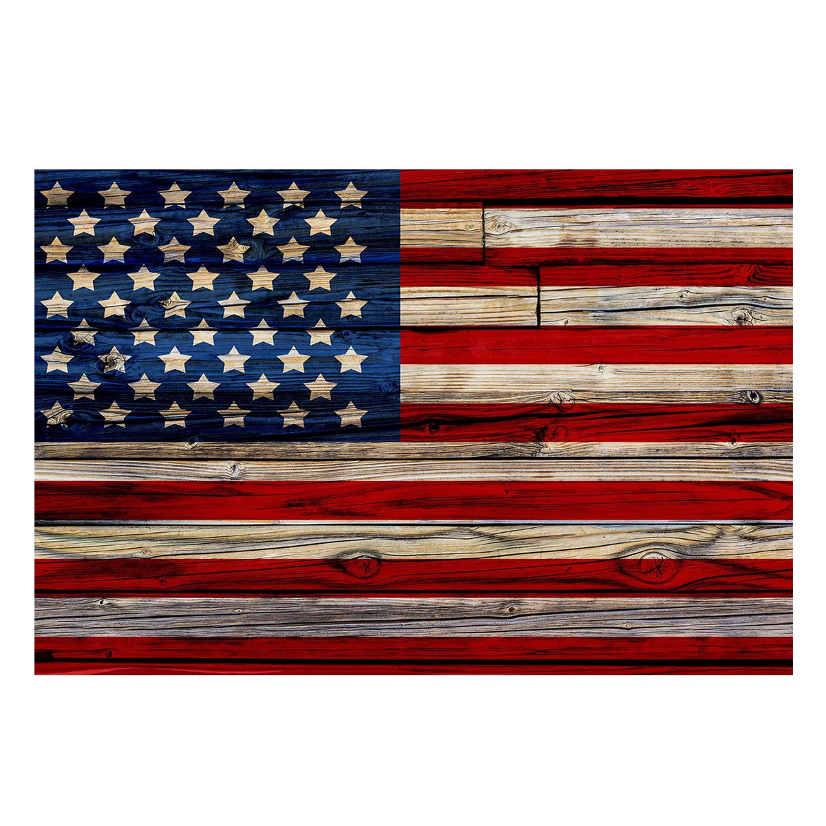 Fantasy Star Aquarium Background American Flag Fish Tank Wallpaper Easy to Apply and Remove PVC Sticker Pictures Poster Background Decoration 24.4'' x 60.8'' by Fantasy Star