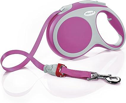 Pink flexi Vario Large Retractable Dog Leash Tape 16//5m