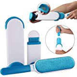 Diniva Pet Fur and Lint Remover Pet Hair Remover Multi-Purpose Double Sided Self-Cleaning and Reusable Pet Fur Remover Magic Clean Clothing, Furniture, Home Clean Brush Set