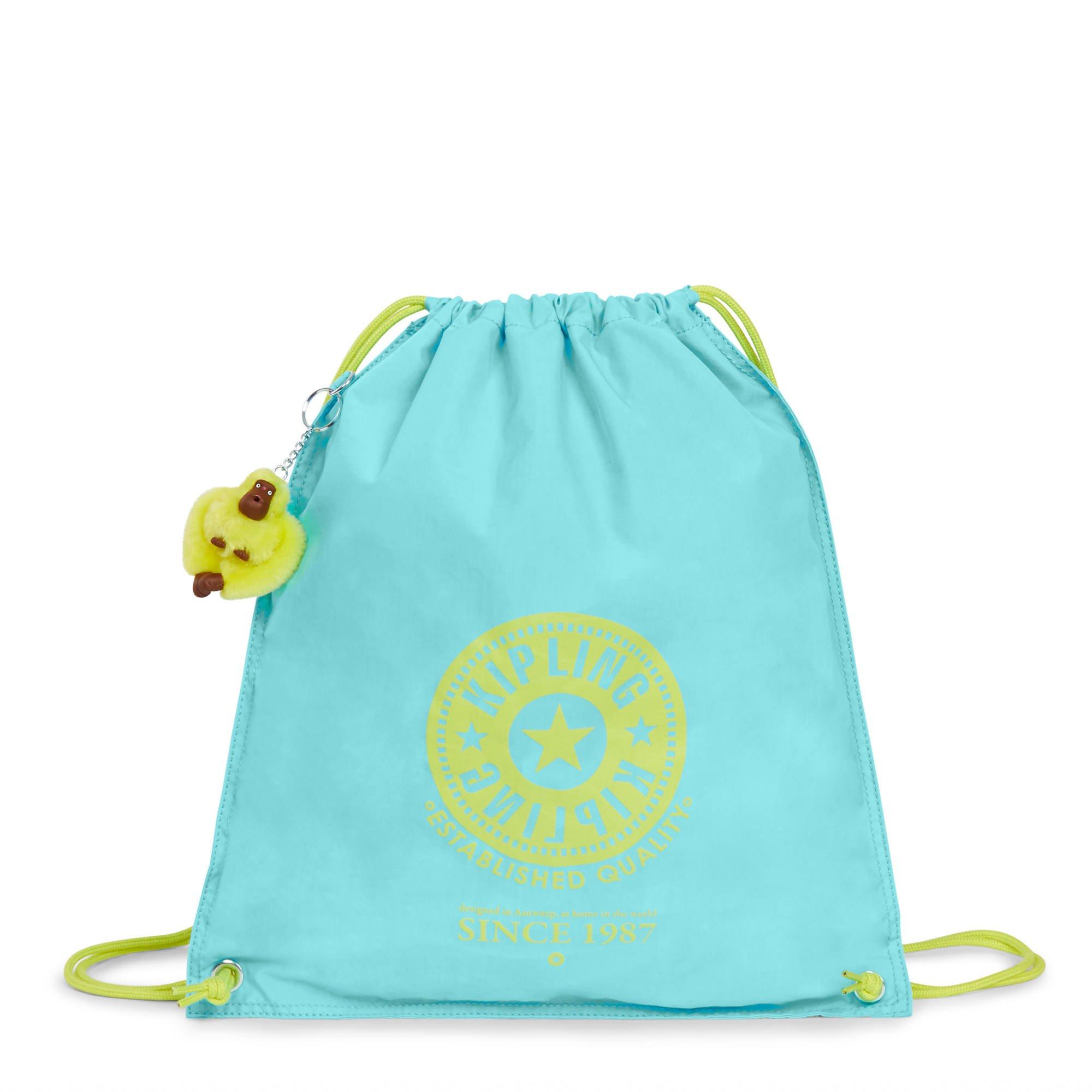 Kipling Women's Emjay Drawstring Backpack One Size Blue Splash