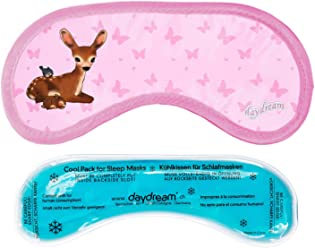 daydream M-3063 Bambi Kids Schlafmaske mit Kühlkissen / Coolpack,rosa