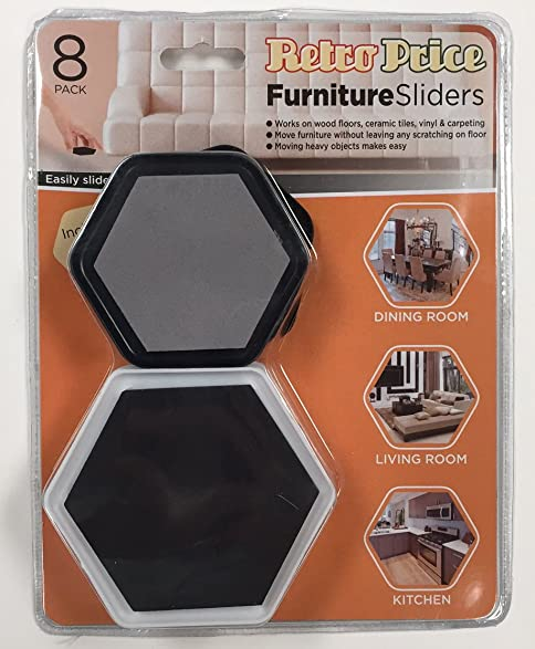 Furniture Movers   Reusable Sliders For Moving Furniture On All Floors    Carpet, Tiles, Wood, Hardwood, Ceramic   Pads For Moving Heavy And Light  Furniture ...