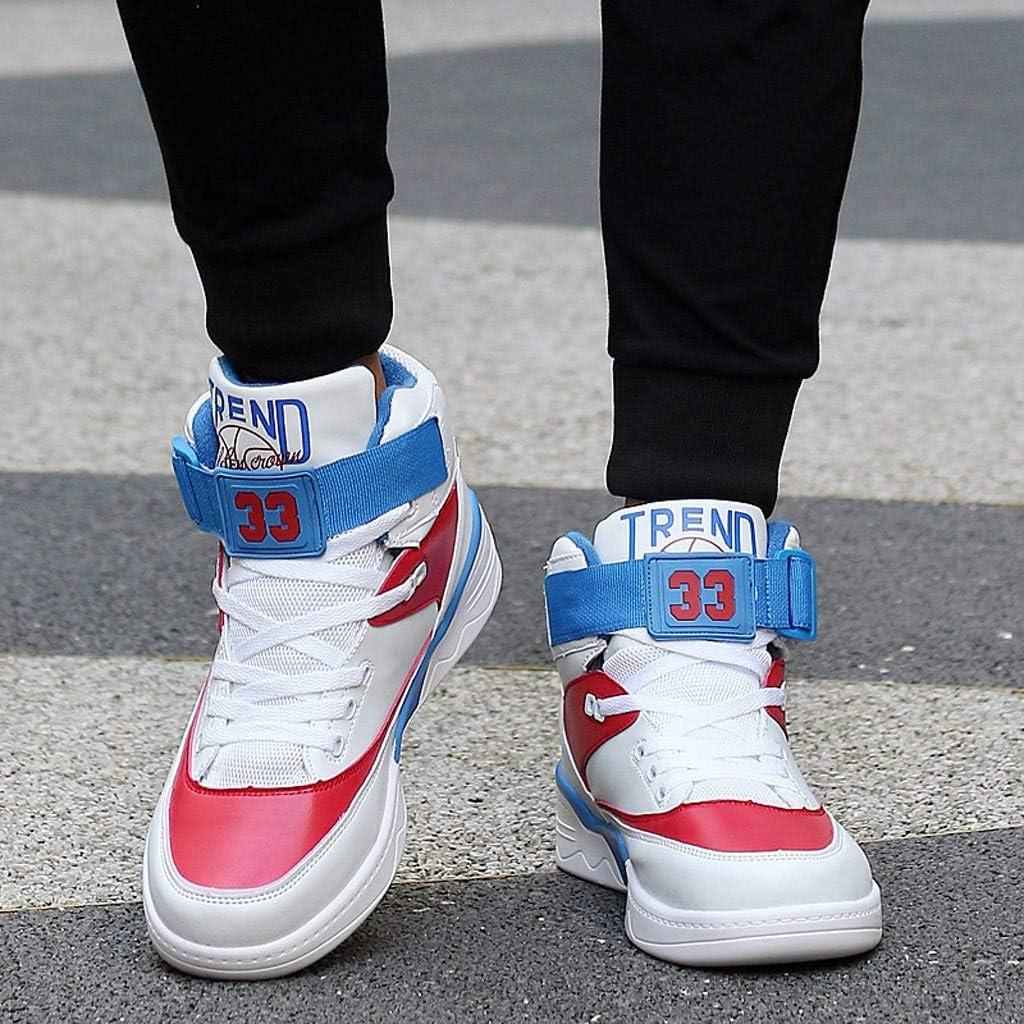 Chaussures Montantes Respirantes pour Hommes Chaussures de Basketball R/ésistantes /À lusure 39-45