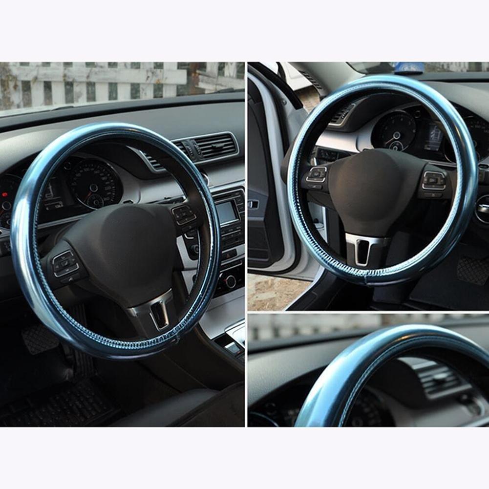 CHES Cubierta del volante para mujeres Hombres Interior del coche Color múltiple Universal 38cm , Lago azul: Amazon.es: Deportes y aire libre