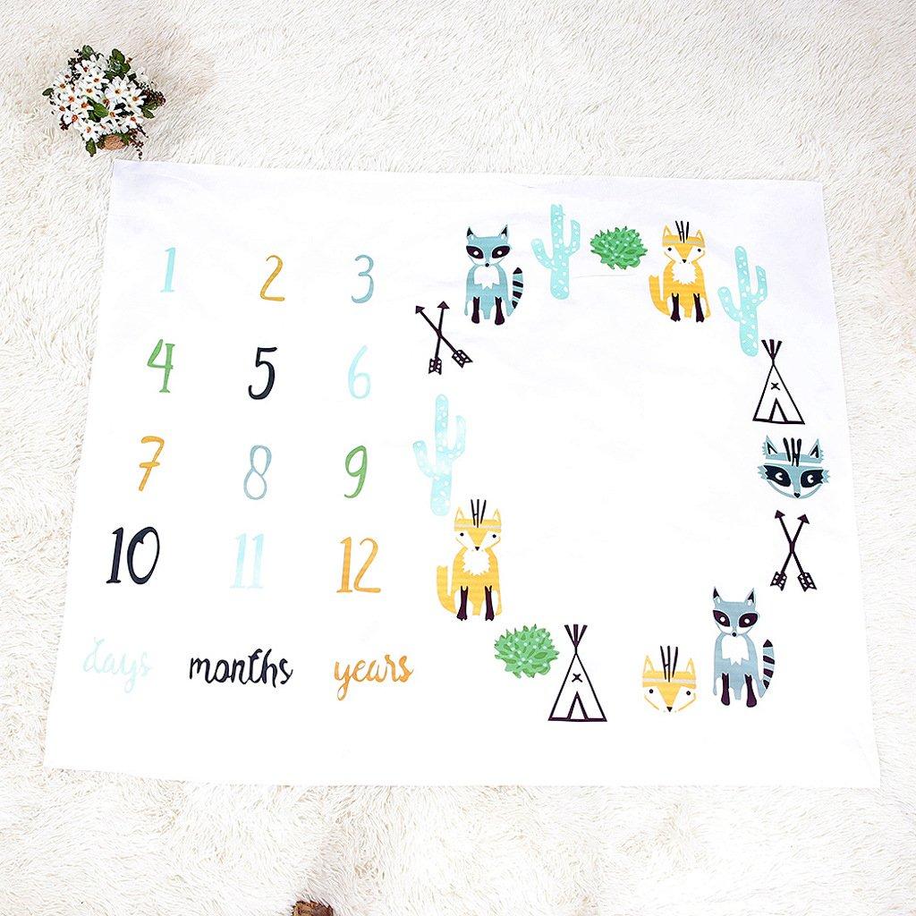 Amazon.com: mummyhug Baby Colorful Milestone – Manta ...