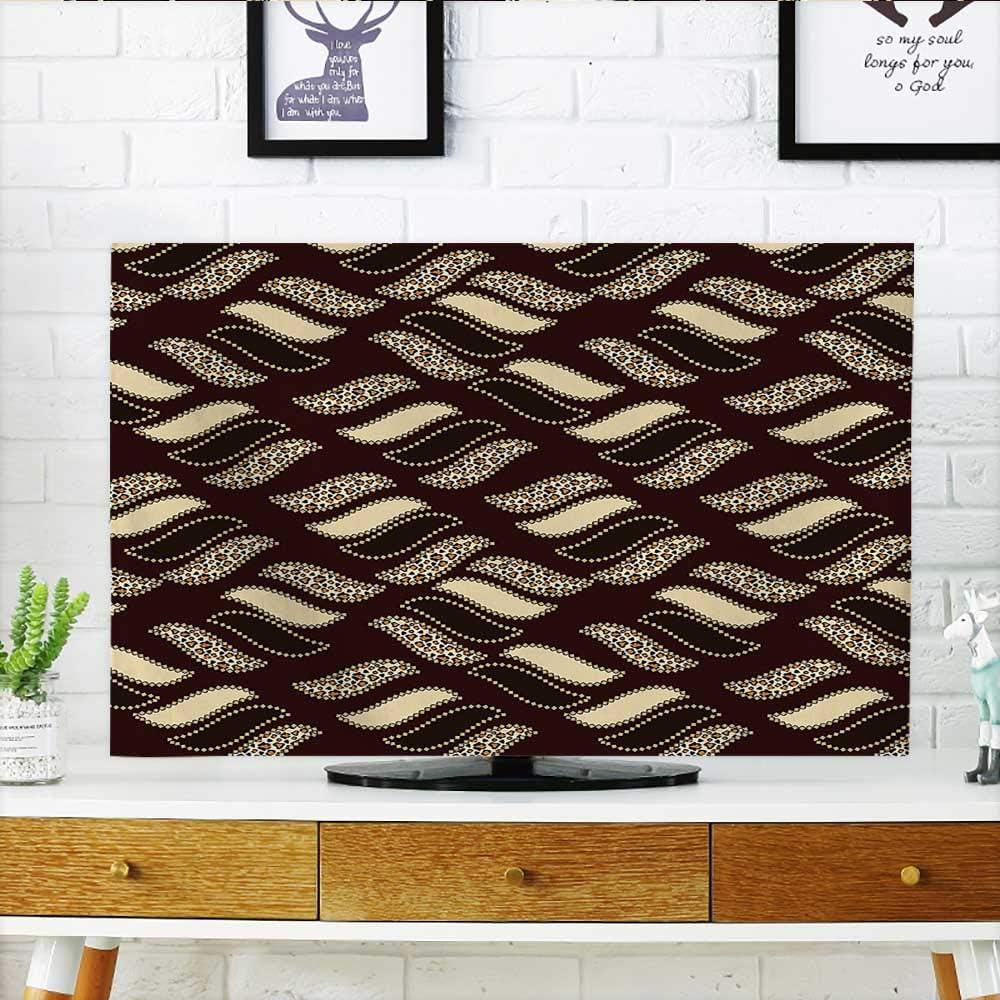 Auraisehome Proteger su televisor de diseño Antiguo Formas geométricas simétricas Chevron Moderno Pantalla Negro Blanco Proteger su TV W19 x H30 Pulgadas/TV 32 Pulgadas: Amazon.es: Hogar