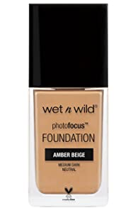 wet n wild Photo Focus Foundation, Amber Beige, 1 Ounce