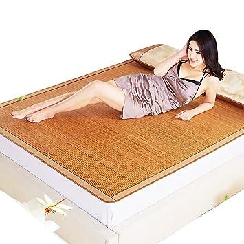 SANDM Alfombra de Verano, 3-Piece Estera de bambú Mat Rey Doble Cara Plegable Estera del Aire Acondicionado Reina-A 180x220cm(71x87inch): Amazon.es: Hogar