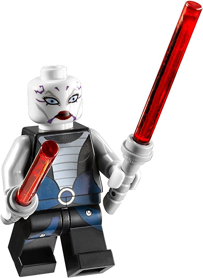 Lego weißes Skelett Asajj Ventress Minifigur in weiss Star Wars Neu Fantasy