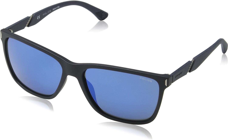 Police Speed 10 Gafas de Sol, Azul (Rubberized Full Blue), 44 para Hombre