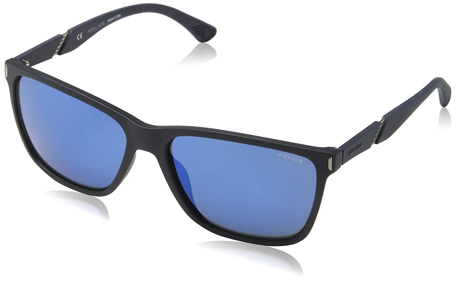 Police Speed 10 Gafas de sol, Azul (Rubberized Full Blue), 44 para Hombre