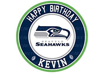 EdibleInkArt Seattle Seahawks Edible Cake Topper Personalized Birthday 6quot Round Circle Decoration Party Sugar