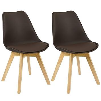 Schön WOLTU BH29br 2 2 X Esszimmerstühle 2er Set Esszimmerstuhl Design Stuhl  Küchenstuhl Holz, Neu