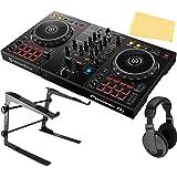 Pioneer DDJ-400 2-Channel DJ Controller for Rekordbox DJ Bundle with Gearlux Laptop Stand, Headphones, and Austin Bazaar Poli