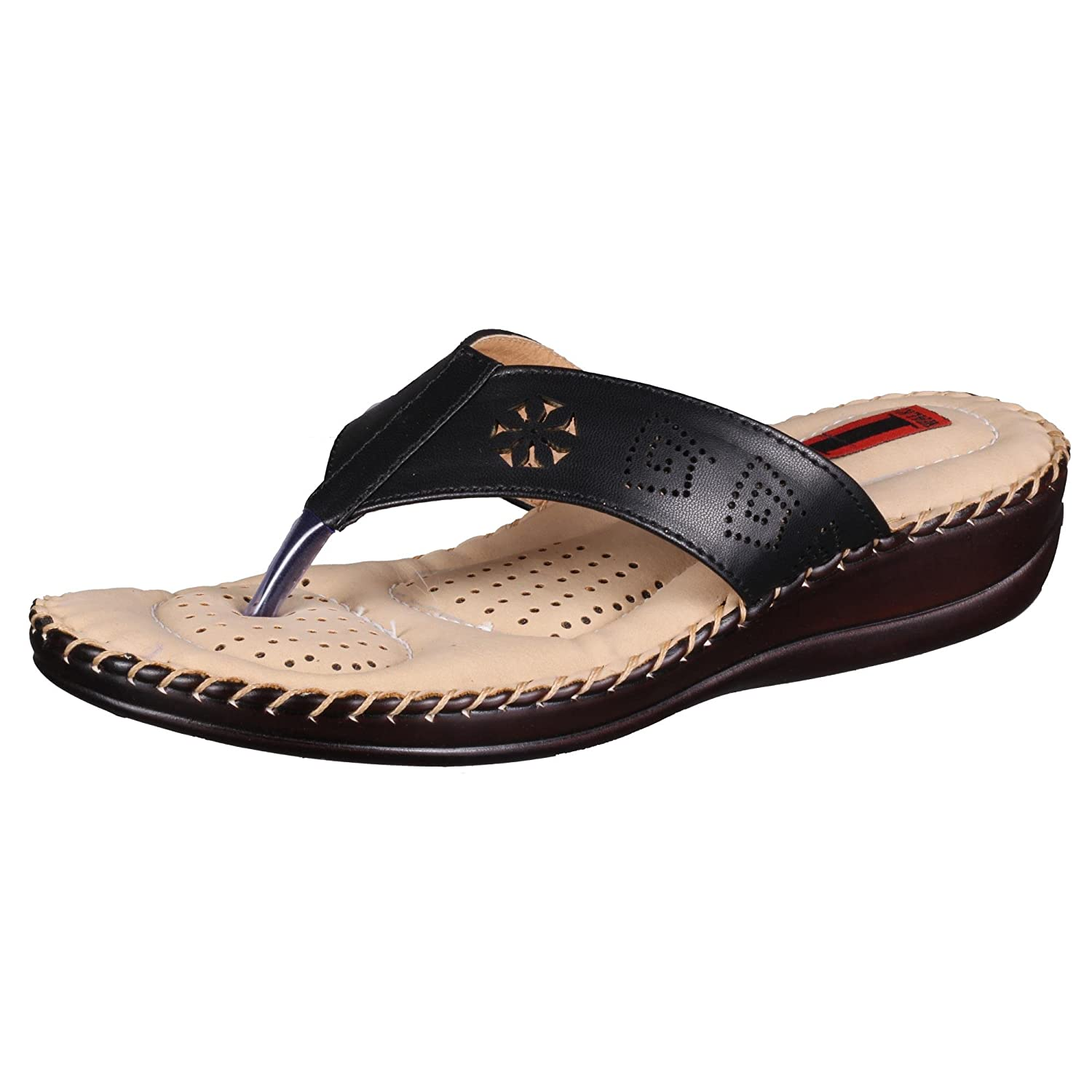 75df04df189e6a 1 WALK Comfortable DR Sole Women-Flats Sandals Fancy WEAR Party WEAR Original Slippers Casual  Footwear-Black MP-DR100B-Black- Parent SKU  Buy Online at Low ...
