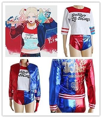 max-shop Suicidio Squad cosplay disfraz de Harley Quinn ...