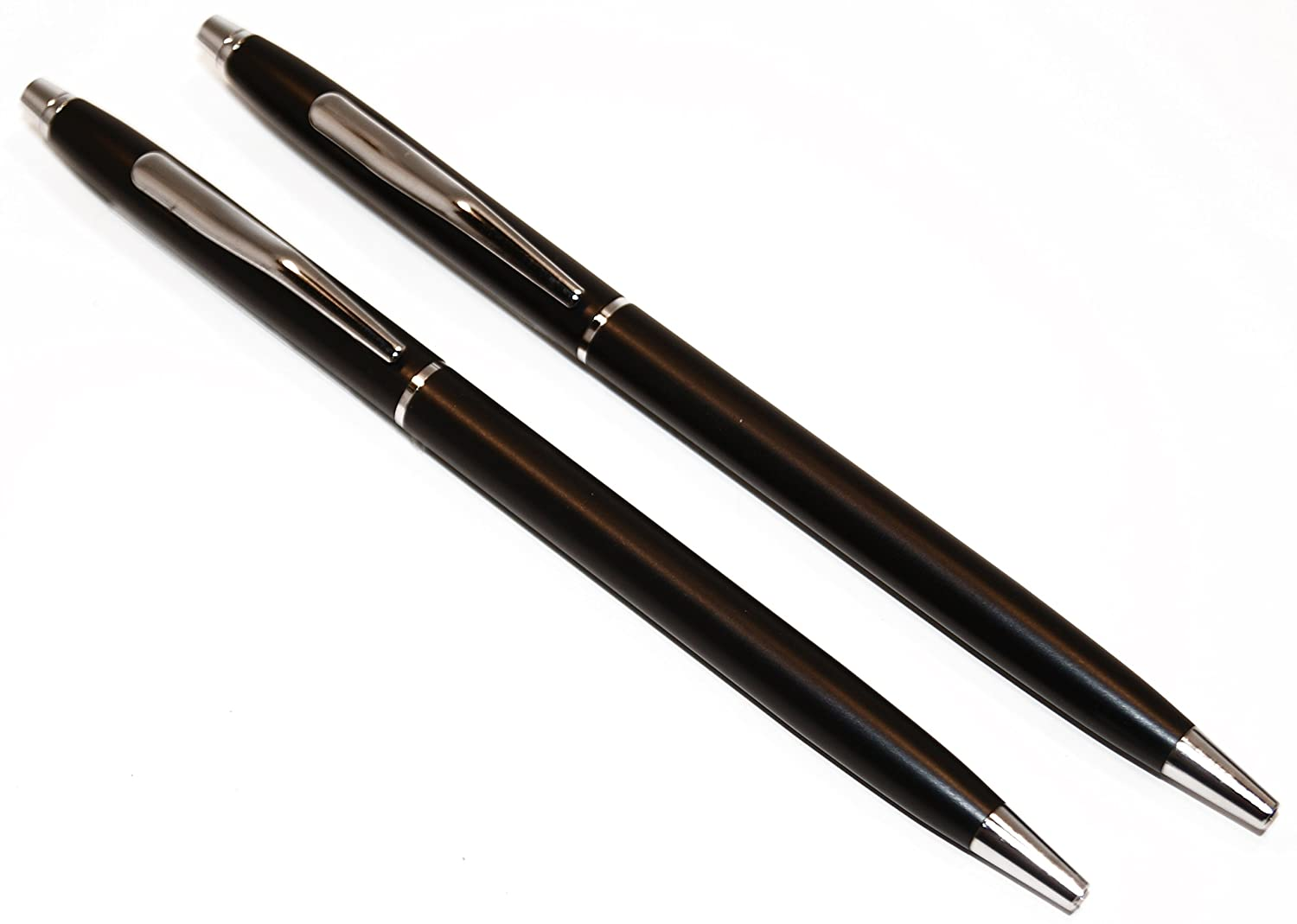 Classic Black /& Chrome Police Uniform Pens Matte Weight Construction Ink Style