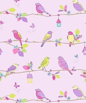 Forest Tree Bird Butterfly Floral Bedroom 10m Wallpaper Roll Decor Art