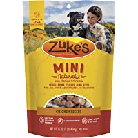 Zuke's Natural Training Dog Treats; Mini Naturals Recipe; Made in USA Facilities