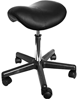 Greenlife Saddle Rolling Massage steel base Stool, Hydraulic Adjustable, black GREENLIFE INC.