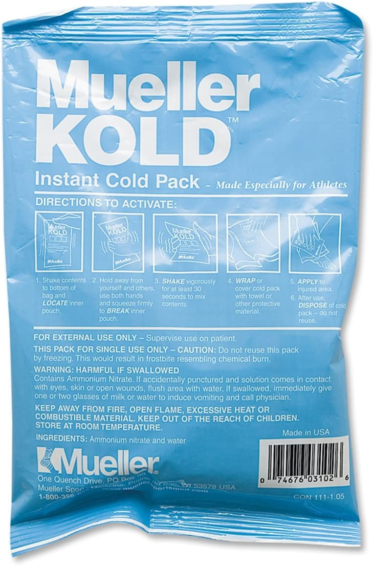 Mueller Kold Instant Cold Pack (solo): Amazon.es: Deportes y aire ...