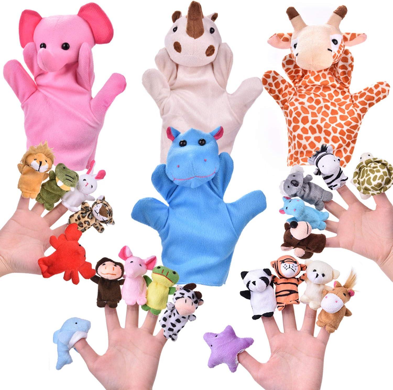 Tnfeeon Hand Puppet Orangutan Animal Head Hand Puppet Toys Simulating Animal Shaped Orangutan Hand Doll Toy Role Play Props