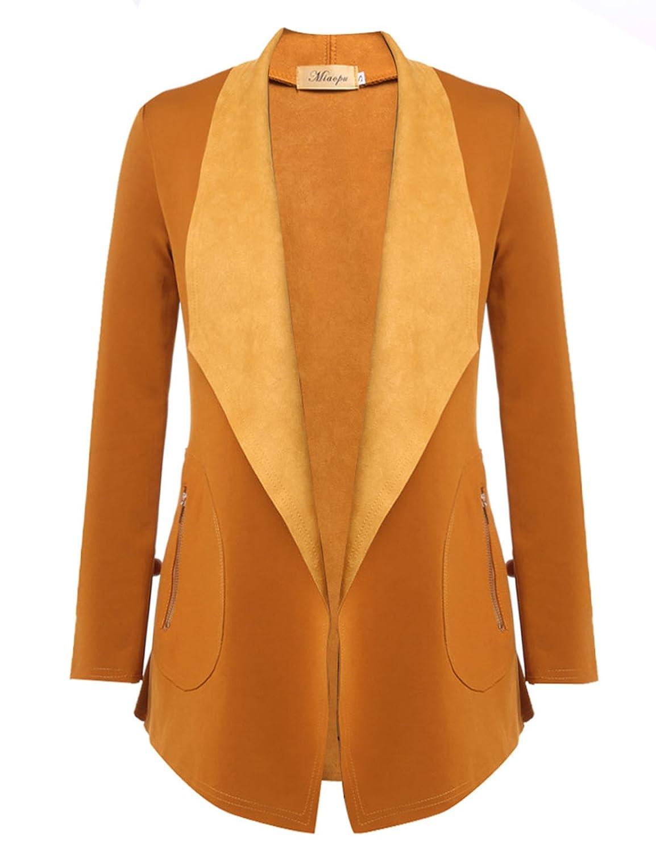 eshion Womens Casual Long Sleeve Turndown Collar Cardigan Coat Autumn Clothes