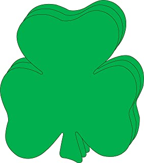 """product image for 8"""" x 10"""" Shamrock Single Color Super Cut-Outs, 15 Cut-Outs in a Pack for Spring, St. Patrick's Day Decorations Crafts, Kids' School Craft Projects."""